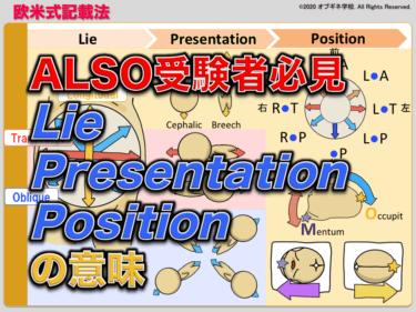 ALSO受験者必見!Lie, Presentation, Attitude, Position 欧米式の胎位・胎向・胎勢について
